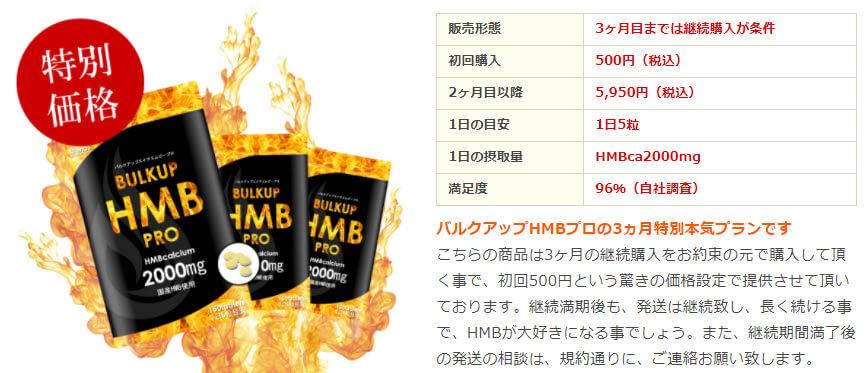 バルクアップHMBプロの値段