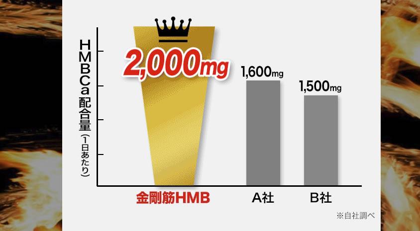 金剛筋HMBサプリメントはHMBが業界トップクラス
